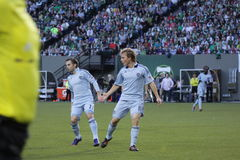 Kansas CITY Sporting. Were beat by the Portland Timbers 1 to 0 March 21-2012 at JELD-WEN FIELD Royalty Free Stock Images