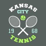 Kansas City Tennis t-shirt. Kansas City tennis championship, t-shirt sport typography label Royalty Free Stock Photo