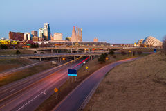 Kansas City without Trademarks. Kansas City at twilight with no copyright or trademark symbols Royalty Free Stock Photo