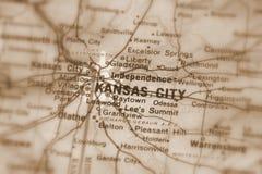 Kansas City, una ciudad en el U S foto de archivo