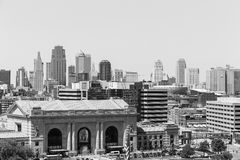 Kansas City Union Station in Monochrome Royalty Free Stock Images