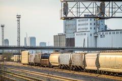 Kansas city USA freight trains Royalty Free Stock Image
