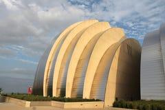 Kansas City landmark. KANSAS CITY, USA - JUNE 25, 2013: Kauffman Center for the Performing Arts building in Kansas City, Missouri. Famous building was completed Stock Photo