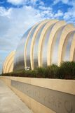 Kansas City. USA - JUNE 25, 2013: Kauffman Center for the Performing Arts building in , Missouri. Famous building was completed in 2011 and is an example of Royalty Free Stock Photo