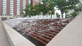 Kansas City Wodna fontanna Zdjęcie Royalty Free