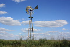 Kansas country windmill stock images
