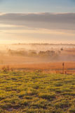 Kansas foggy sunrise Stock Photos