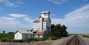 Kansas Grain Elevator. Vintage Grain Elevator in central Kansas Royalty Free Stock Images