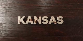 Kansas - grungy wooden headline on Maple  - 3D rendered royalty free stock image Stock Photos