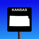 Kansas highway sign Stock Image