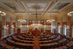 Kansas House Chamber. House of Representatives chamber in the Kansas State Capitol building in Topeka, Kansas Stock Photography