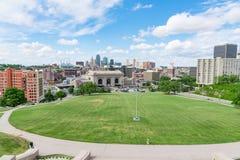 Kansas miasta Missouri linia horyzontu obraz royalty free