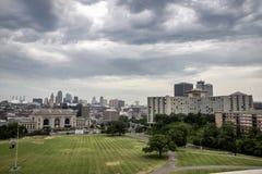 Kansas miasta Missouri linia horyzontu obrazy stock