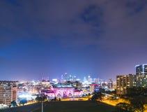 Kansas, Missouri, USA 09-15-17, schöne Kansas City-Skyline an Stockfoto