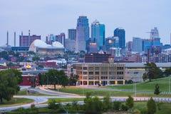 Kansas, Missouri, USA 09-15-17, schöne Kansas City-Skyline an Stockfotografie
