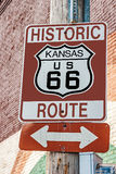 Kansas Route 66 Sign Royalty Free Stock Photos
