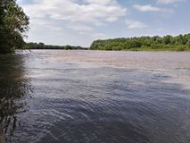 Kansas rzeka fotografia stock