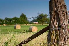 Kansas staket Fotografering för Bildbyråer