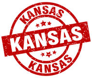 Kansas stamp. Kansas round grunge stamp isolated on white background Royalty Free Stock Images