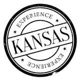 Kansas stamp rubber grunge Stock Photos