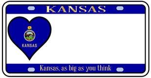 Kansas stanu tablica rejestracyjna Obrazy Royalty Free