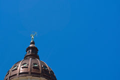 Kansas State Capitol Building Dome And Statue Stock Photography