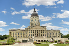 Kansas State Capitol. In Topeka during bright day stock photos