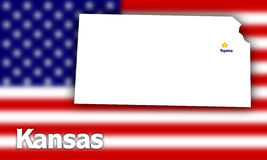 Kansas state contour Royalty Free Stock Photography