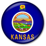 Kansas State Flag Button Royalty Free Stock Photo