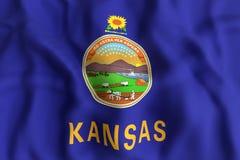 Kansas State flag Royalty Free Stock Photography