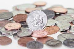 Kansas State Quarter reverse extreme close up stock photos