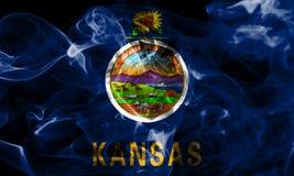 Kansas state smoke flag, United States Of America.  stock image