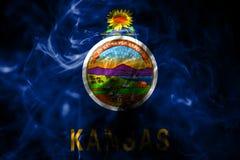 Kansas state smoke flag, United States Of America.  stock illustration