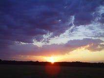 Kansas sunset. Beautiful Kansas sunset Stock Photography