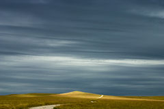 Kansas Tallgrass Praire Preserve Road To Nowhere Stock Image
