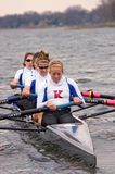 Kansas U Women's Rowing Team Royalty Free Stock Photos