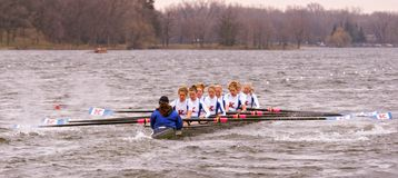 Kansas University Women's Row Royalty Free Stock Photography
