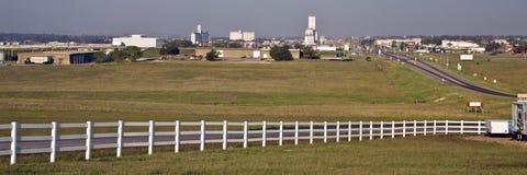 Kansas--Vaschetta dell'orizzonte della città di espediente Fotografie Stock Libere da Diritti