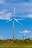Kansas vindturbiner Arkivfoto
