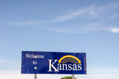Kansas Welcome Sign Stock Image