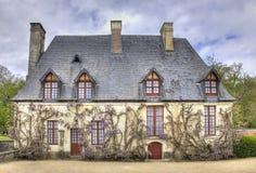 Kansli från trädgården av den Chenonceau slotten Arkivbilder