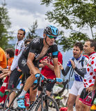 Kanstantsin Siutsou  Climbing Alpe D'Huez Stock Photo
