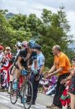 Kanstantsin Siutsou que sube Alpe d'Huez Fotografía de archivo libre de regalías