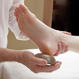 Kansu acupressure foot massage Stock Photos