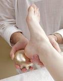 Kansu-Fußmassage Stockbild