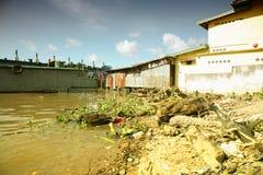 Kant 2 van de rivier Stock Foto's
