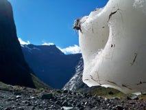 Kant av en glaciär Arkivfoton