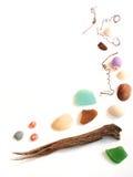 Kant för ram för objekt för havskustsamling Arkivbild