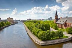 Kant island in Kaliningrad, Russia Stock Image