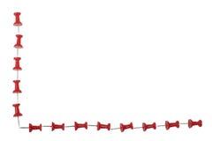 kant isolerad röd white för pushpin Arkivbild